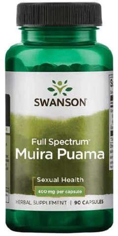 SWANSON Full Spectrum Muira Puama Root 400mg x 90 kapsułek
