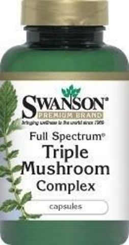 SWANSON Full Spectrum kompleks trzech grzybków x 60 kapsułek