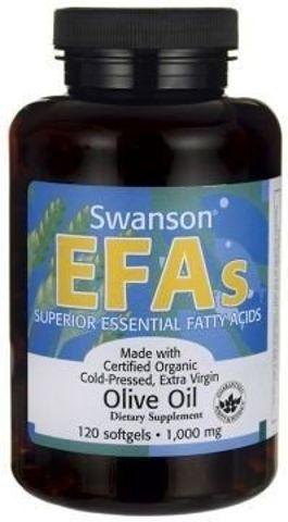 SWANSON Olive oil extra virgin 1000mg x 120 kapsułek - data ważności 31-07-2017r.