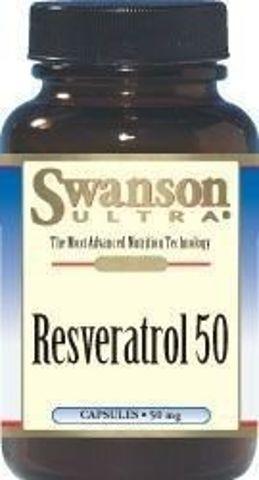 SWANSON Resweratrol 50mg x 30 kapsułek