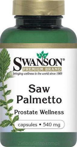SWANSON Saw Palmetto (palma sabałowa) 540mg x 250 kapsułek