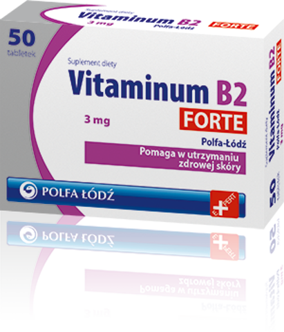 VITAMINUM B2 Forte 3mg x 50 tabletek