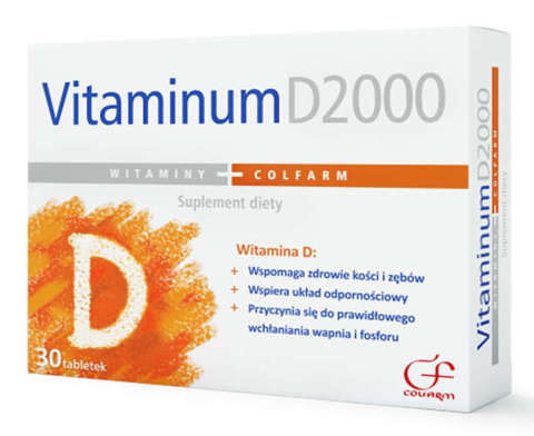 VITAMINUM D2000 Colfarm x 30 tabletek