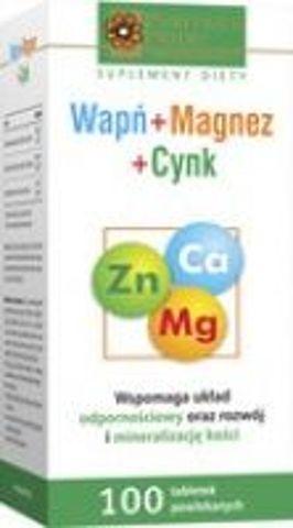 WAPŃ MAGNEZ CYNK x 100 tabletek