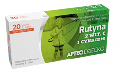 APTEO DZIECKO Rutyna z witaminą C i cynkiem x 20 tabletek do ssania