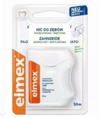 ELMEX Nić dentystyczna woskowana do usuwania płytki nazębnej z przestrzeni międzyzębowych miętowa 50m