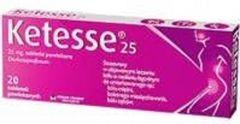 Ketesse 25 x 20 tabletek - data ważności 30-09-2018r.