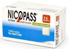 Nicopass 2,5mg x 96 pastylek do ssania o smaku świeżej mięty