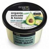 Organic Shop Maska do włosów Awokado i Miód 250ml