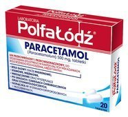 PARACETAMOL 500mg x 20 tabletek