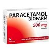 PARACETAMOL BIOFARM x 6 tabletek