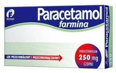 Paracetamol Farmina 250mg x 10 czopków