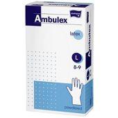 Rękawice Ambulex Lateks niejałowe pudrowane rozmiar L x 100 sztuk