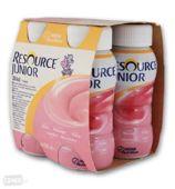 Resource Junior płyn smak truskawkowy 200ml x 4 sztuki