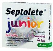SEPTOLETE Junior x 18 pastylek