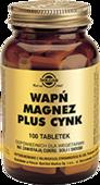 SOLGAR Wapń, Magnez plus Cynk x 100 tabletek