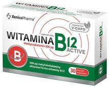Witamina B12 Active Methylcobalamin 500µg x 30 kapsułek