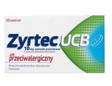 ZYRTEC UCB x 10 tabletek