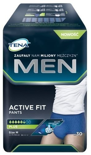e4da4c595ce32 TENA Men Active Fit Pants Plus rozmiar M x 30 sztuk | cena, opinie ...