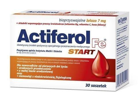 ACTIFEROL Fe START x 30 saszetek - data ważności 30-11-2019