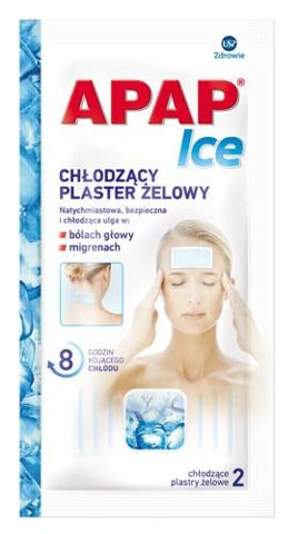 APAP ICE plaster chłodzący x 2 sztuka