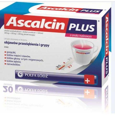 Ascalcin Plus o smaku malinowym x 10 saszetek