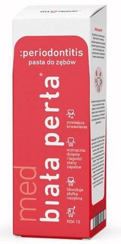BIAŁA PERŁA ProPerio Zdrowe Dziąsła enzymatyczno-ziołowa pasta do zębów 75ml