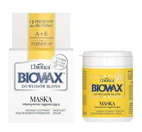 BIOVAX Intensywnie regenerująca maseczka do włosów blond 250ml