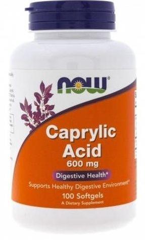 Caprylic Acid 600mg x 100 kapsułek softgels