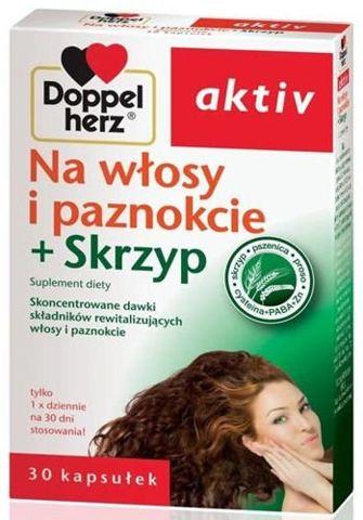 Doppelherz aktiv Na włosy i paznokcie + skrzyp x 30 kapsułek