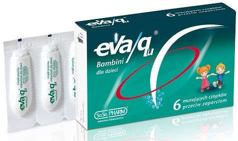 Eva/qu Bambini czopki przeciw zaparciom x 6 sztuk