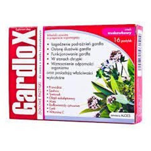 GARDLOX x 16 tabletek do ssania smak truskawkowy