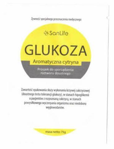 Glukoza Aromatyczna Cytryna proszek 75g