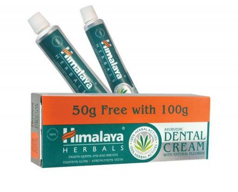 HIMALAYA  Pasta do zębów z naturalnym fluorem 100g + 50g Gratis