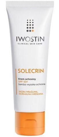 IWOSTIN Solecrin SPF50+ krem 75ml + Iwostin Solecrin kojąca pianka z D-pantenolem 50ml Gratis!