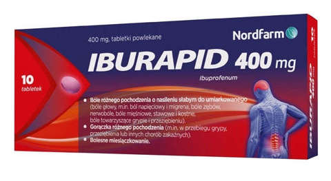 Iburapid 400mg x 10 tabletek