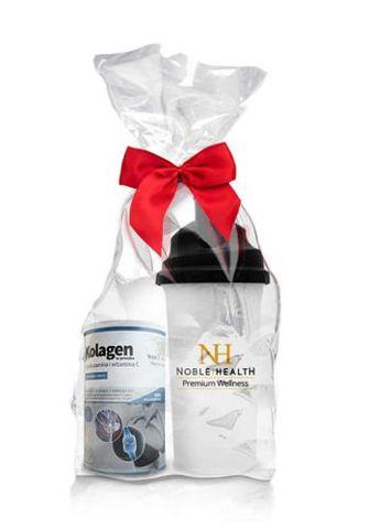 Kolagen w proszku + glukozamina i witamina C Noble Health 100g + Oryginalny Shaker NH Gratis!