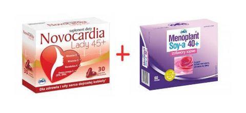 MENOPLANT Soy-a 40+ x 60 kapsułek + NOVOCARDIA Lady 45+ x 10 kapsułek gratis!