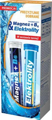 Magnez + B6 & Elektrolity x 20 tabletek musujących + 20 tabletek musujących