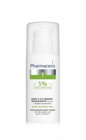 Pharmaceris T Sebo-Almond Peel Krem z 5% kwasem migdałowym na noc I stopień złuszczania 50ml