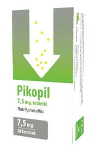 Pikopil 7,5mg x 10 tabletek - data ważności 31-08-2018r.