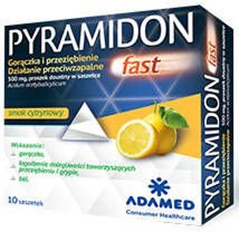 Pyramidon Fast 500mg proszek doustny x 10 saszetek
