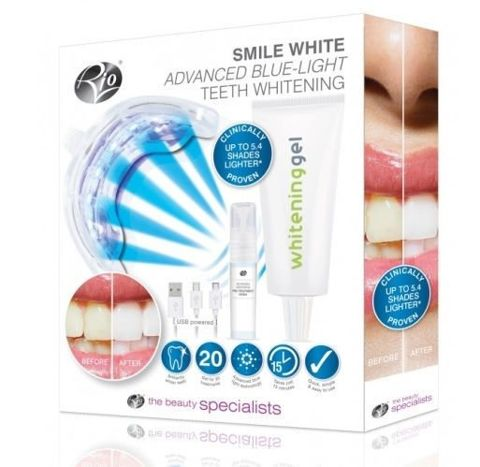 RIO USB Blue Light Teeth Whitening zestaw do wybielania zębów