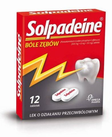 SOLPADEINE x 12 tabletek powlekanych