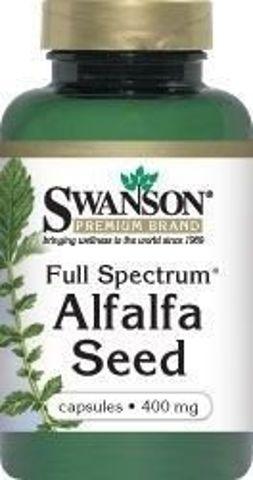 SWANSON Full Spectrum Alfalfa 400mg x 60 kapsułek