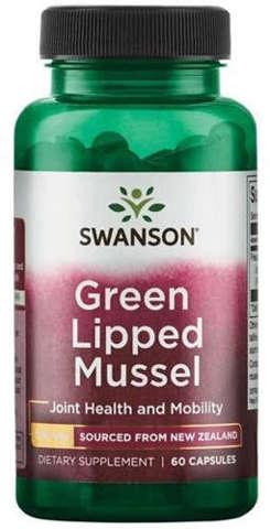 SWANSON Nowozelandzka liofilizowana zielona małża 500mg x 60 kapsułek