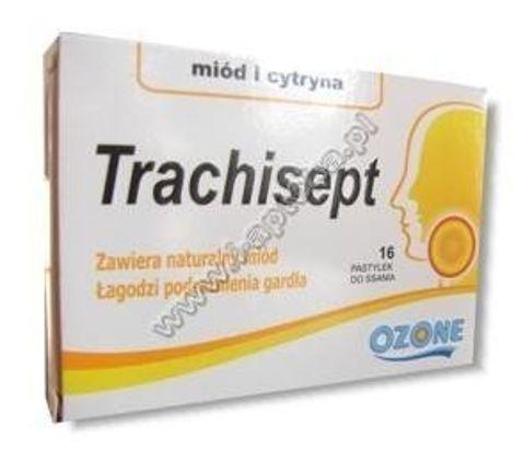 TRACHISEPT x 16 past. miód-cytryna