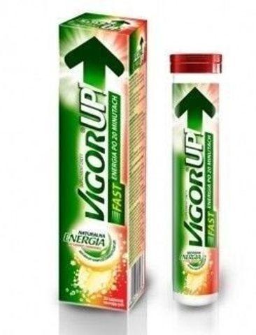 VIGOR UP Fast x 20 tabletek musujących smak owoce leśne