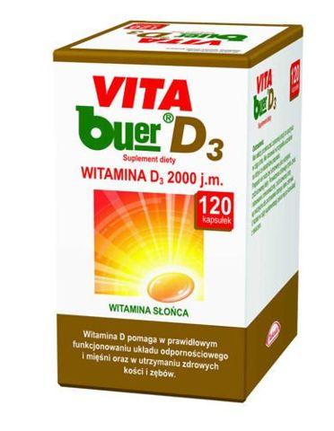 VITA BUER D3 2000j.m. x 120 kapsułek