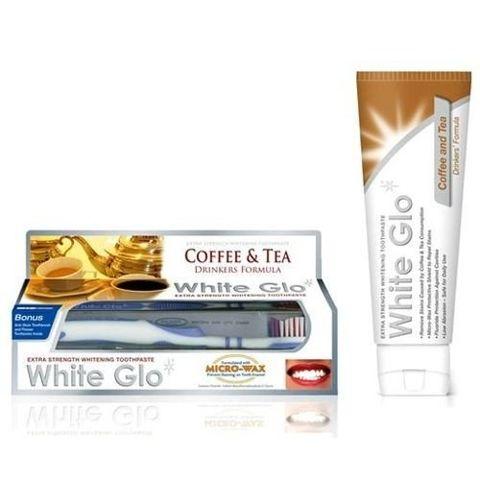 WHITE GLO Coffee and Tea Pasta do zębów wybielająca 100ml